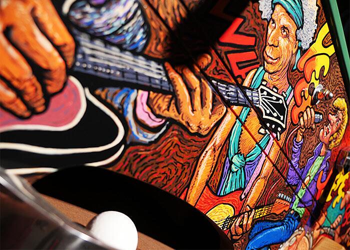 Rocklegenden am Kicker Tisch