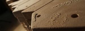 Tischfussballtisch aus Massivholz