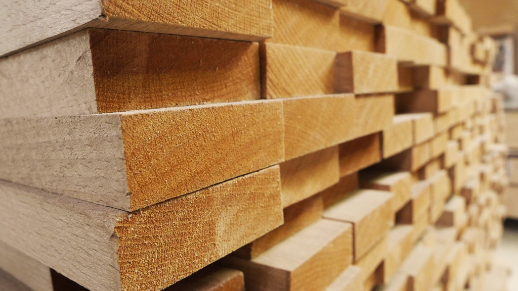 Jahrelang gelagertes Buchenholz aus nachhaltigem Anbau