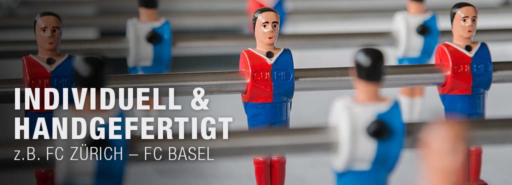 Tischfussball individuell - FC Zürich / FC Basel - Tischfussballtische online kaufen